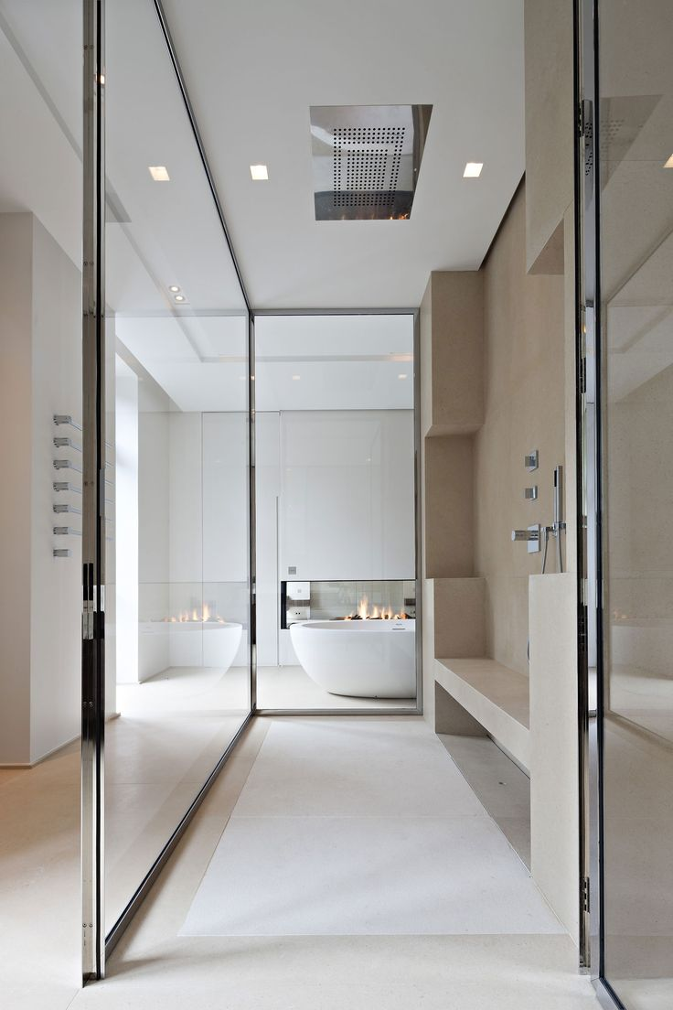 A very modern bathroom similar in layout