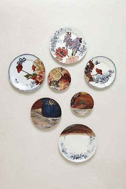 Flowers in Blue Jug Plate Collage #anthropologie