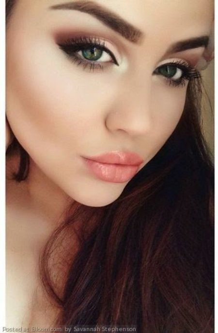 Stunning Makeup! #nudelips #smokyeye #glowingskin -   For more #Makeuplooks or to share yours, go to bellashoot.com