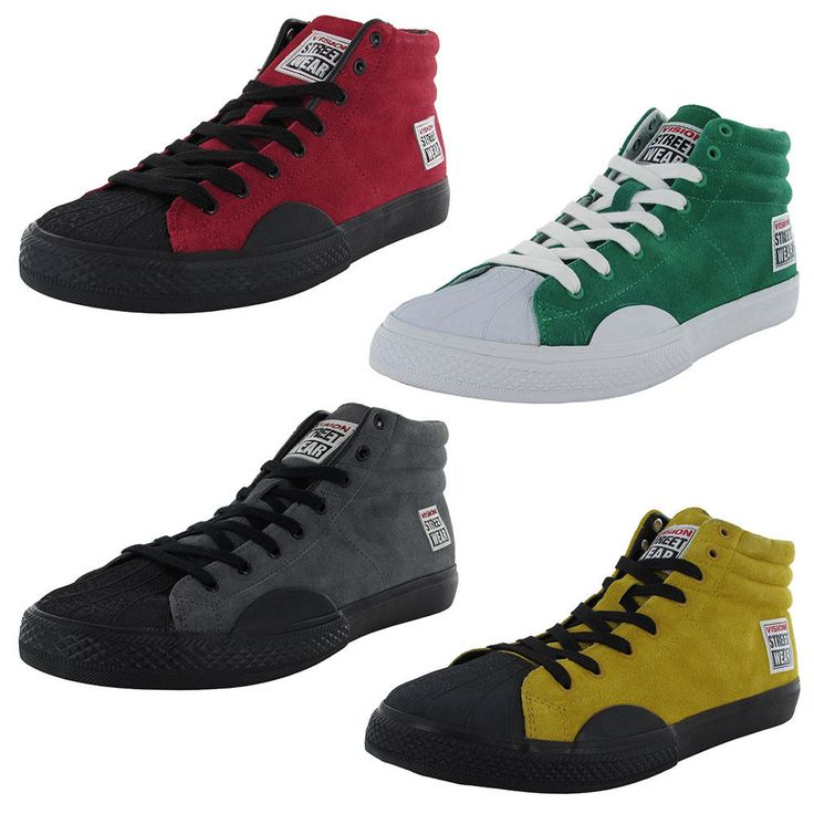 Vision Street Wear Mens Suede Hi Retro Fashion Skate Shoe