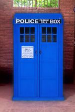Blue Police Call English Box Dr. Doctor Who Tardis Phone Full Size Knock Down