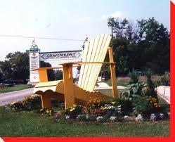 Giant Muskoka Chair, Gravenhurst, On