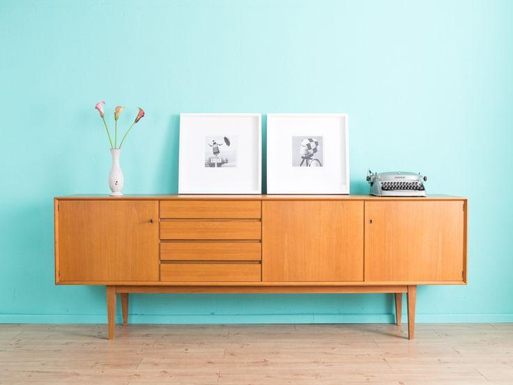 Hochwertiges+Sideboard,+Kommode,+60er+Jahre,+50er+von+MID+CENTURY+FRIENDS+auf+DaWanda.com