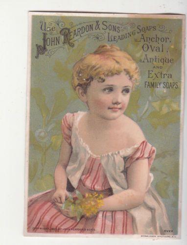 John-Reardon-amp-Sons-Soaps-Boston-Morning-of-Life-Pink-Dress-Vict-Card-c1880s