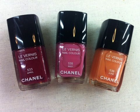 Chanel Spring 2012 Nail Polishes
