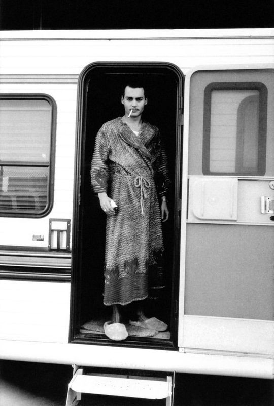 Johnny Depp by François-Marie Banier on the set of Ed Wood, 1983.