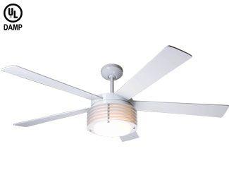 modern fan pha-gw-52-wh-in-nc pharos ceiling fan