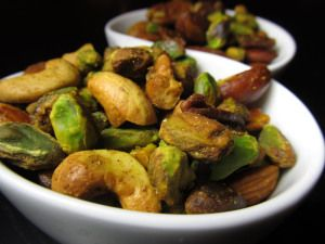 Roasted Nuts--recipe says 450 degrees.  I think that is too high. I would do it next time at maybe 400. Otherwise recipe was good.
