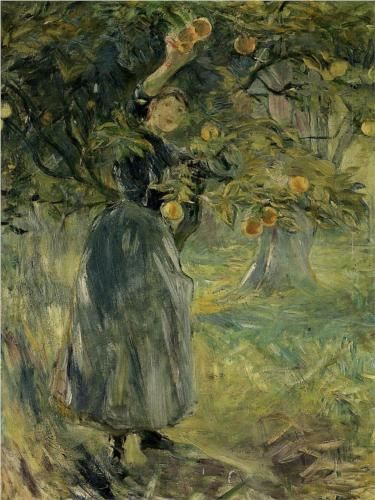 The Orange Picker - Berthe Morisot, 1889