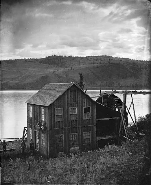Tranquille Mills, Kamloops Lake, BC, 1871. Canada