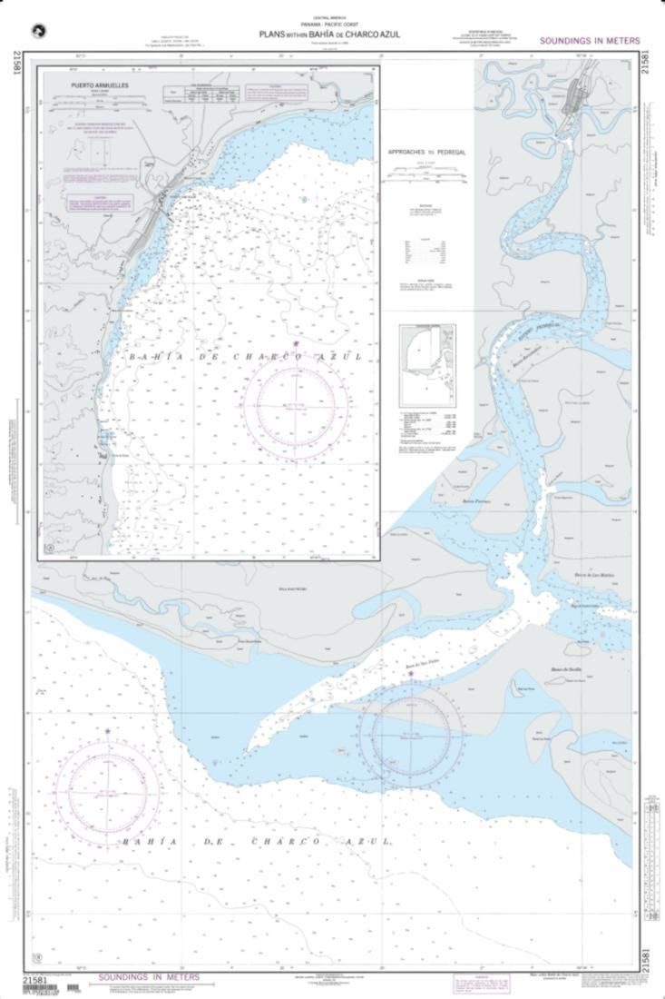 Plans Within Bahia De Charco Azul; A: Puerto Armuelles (NGA-21581-5) by National Geospatial-Intelligence Agency