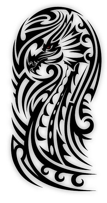 «Bicep Tribal Dragon» de sbink