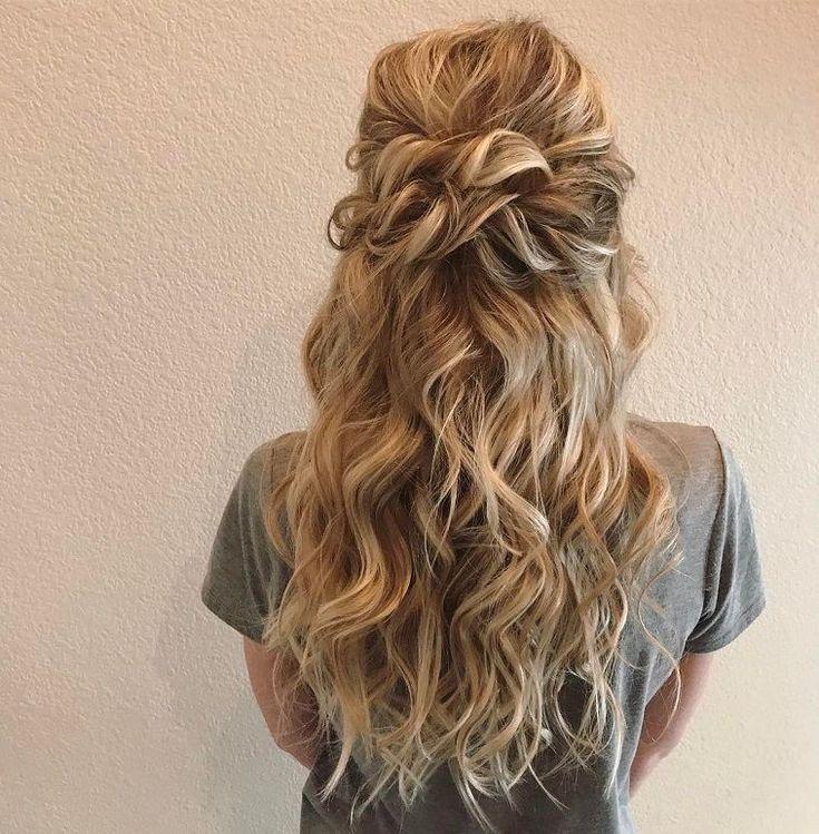 Twisted half up half down hairstyle, wedding hair,half up half down hairstyles ,half up half down wedding hairstyles, wedding hair down hairstyle #weddinghairstyles #hairstyles #romantichairstyles #halfup #hairdown