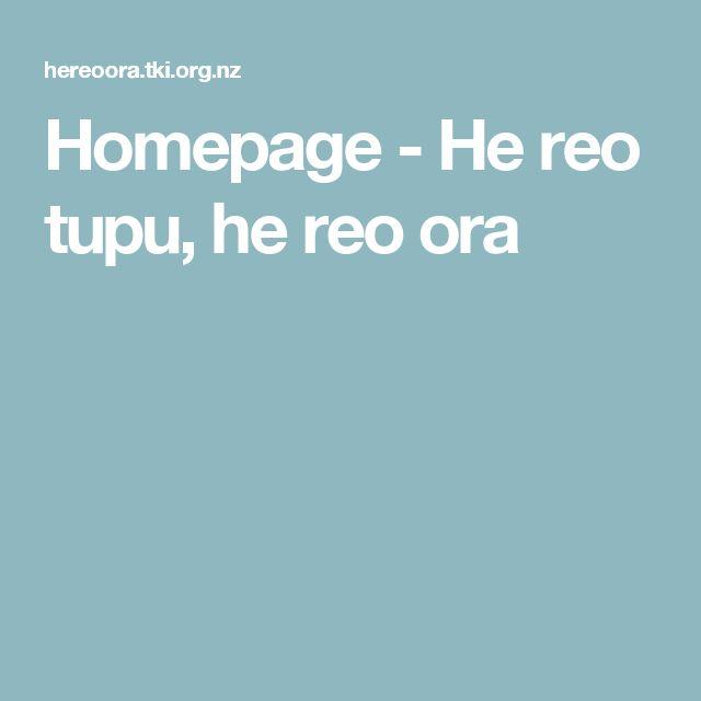 Homepage - He reo tupu, he reo ora