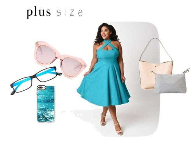 """""""plus size #2"""" by mariapizzuto on Polyvore featuring moda, Casetify, Select-A-Vision e Karen Walker"""