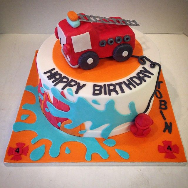 17 Best Ideas About Firefighter Birthday Cakes On Pinterest
