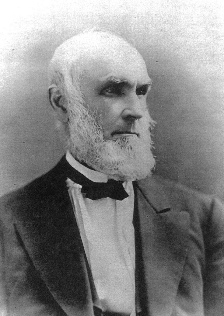 """Harvey Rice (1800 - 1891) Father of James Irvine's first wife Henrietta Rice Irvine. An educator, author and pioneering political leader in the state of Ohio. He sponsored the bill that established the first public school and libraries in the state. He is known as the """"Father of the Common School System in Ohio"""""""