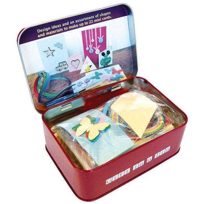 card making kit in a tin