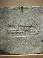 """Nebuchadnezzar II ~ This ceramic brick is inscribed in cuneiform with the name of Nebuchadnezzar II, who is mentioned some 90 times in the Bible (e.g. Ezra 1:7). Ancient kings often used inscribed bricks in their building projects. This one was originally made in c. 604-562 BC and was found in the ruins of ancient Babylon during excavations in 1927. It reads, """"Nebuchadnezzar, king of Babylon, Guardian of the temples of Esagila and Ezida, Firstborn son of Nabopolasser, king of Babylon."""""""