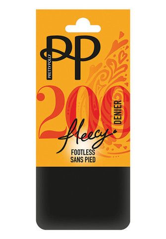 Fleece Opaque Footless Tights By Pretty Polly
