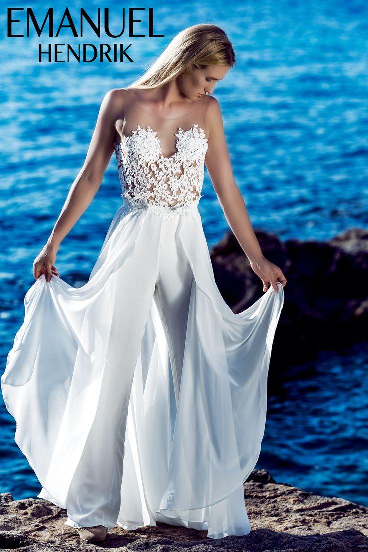 EMANUEL HENDRIK | Jumpsuit: Claudia | Hochzeitskleid / Wedding Dress - Wedding Jumpsuit - Hochzeit - Braut - Bride Photoshooting / Wedding / Düsseldorf - München / Duesseldorf - Munich - Germany / Handgefertigt - Handmade - Made in Germany / Mallorca - Balearic Island - Spain / Beach Waves - Beach - Sand - Ocean - Seaside - Honeymoon / Overall - Spitze - Tüll - Tulle - Black - Rückenfrei - Backless - Train - Chiffon / Fashion - Bridal Couture