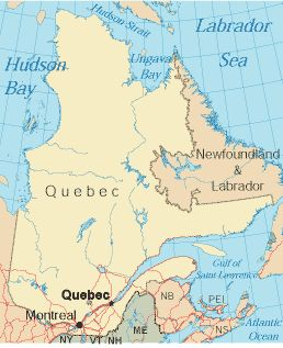 "French explorer Jacques Cartier arrived in 1534, and Samuel de Champlain arrived in 1603 to build French settlements. Soon after, Jesuit missionaries followed and in 1663, Louis XIV of France dubbed the area ""New France"".         The British won control of Canada in the French and Indian War in 1763; however, Parliament passed the Quebec act in 1774, ensuring the continuation of French civil law in Quebec. In 1974, Quebec proclaimed French as its official language."