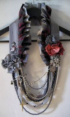 Make a fancy collar. at night wear it over your coat. During the day wear it alone. Burning Man.