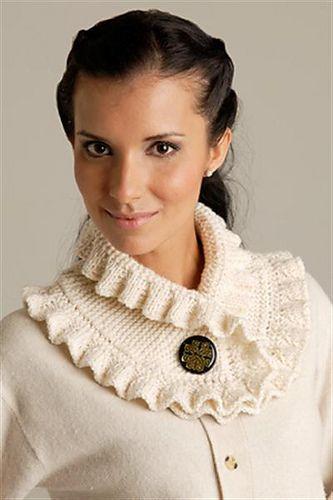 Free knitting pattern for Elisabethan Style Neck Warmer and more neck warmer knitting patterns