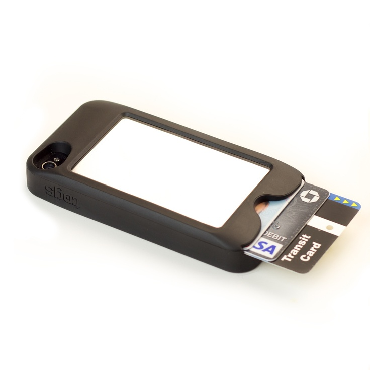 Innovative iPhone case complete with a shatterproof, scratch resistant mirror and a secure pocket to hold a credit card, id, and transit card.