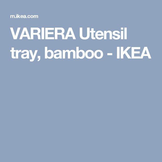 VARIERA Utensil tray, bamboo - IKEA
