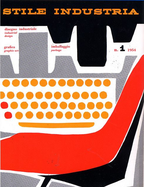 cMag226 - Stile Industria Magazine cover by Albe Steiner / Nº 1 / 1954