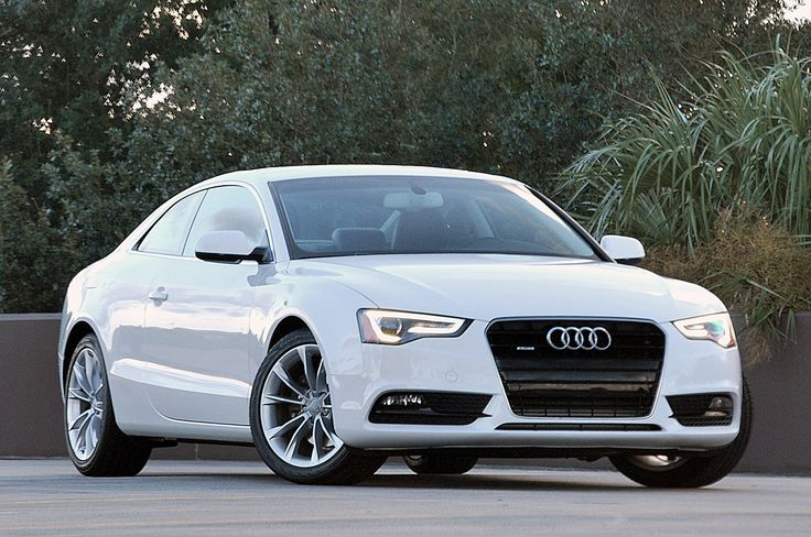 2013 Audi A5 Coupe, white car, pictures