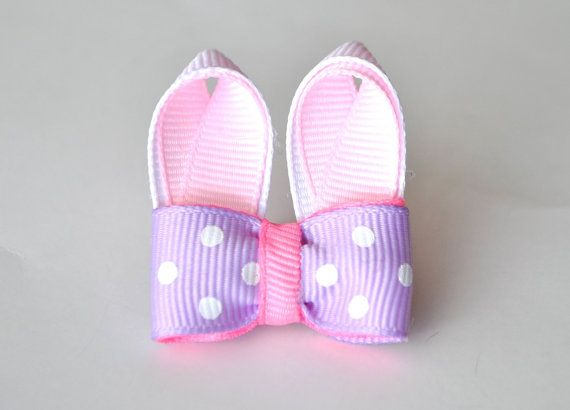 EASTER BUNNY  Purple & Pink Dog Bow by WoofBowtique on Etsy, $5.50