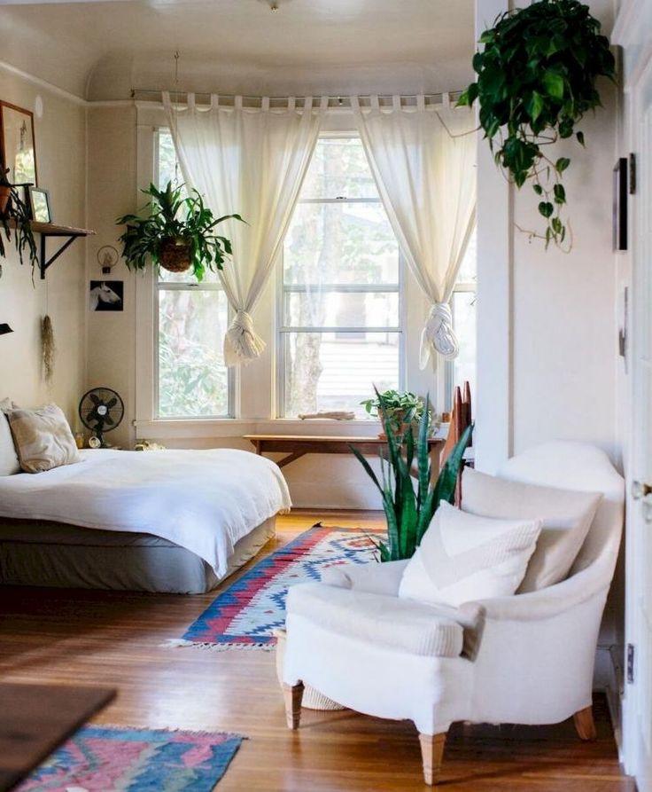 60+ Simple Minimalist Bohemian Bedroom Inspirations on A ... on Bohemian Bedroom Ideas On A Budget  id=43283