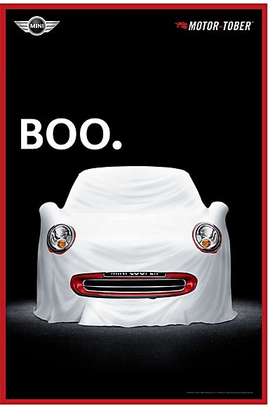 Mini Cooper ad: I Observed That The Campaigns, Minis Halloween, Halloween Costumes, Funny Commercial, Cooper Ads, Minis Cooper, Ads Funny, Events Marketing, Prints Ads