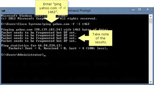 Internet Connectivity Problem: Setting the Right MTU size