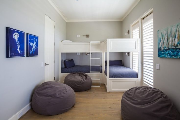 guest beds for small spaces painting ladder pillows wood floor beach style bedroom of Magnificently Cool Guest Beds for Small Spaces to be Stunned By