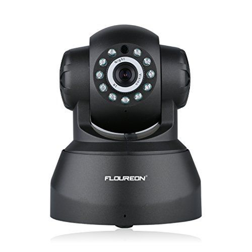 Floureon 720P Wireless IP Camera WIFI Network Baby Monitor Home Security Cameras H.264 Pan/Tilt P2P Support for Home/ Baby Care/Office/Apartment/Supermarket (Black) - $42.99