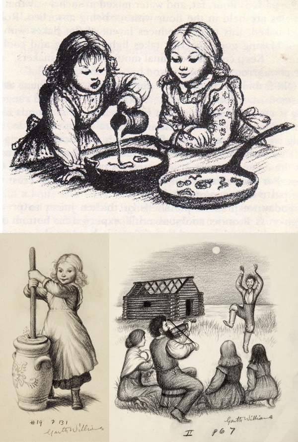 Garth Williams-Little House on the Prairie I LOVED these illustrations. I don't think the books would have been half as good without them.