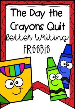 The Day the Crayons Quit Letter Template