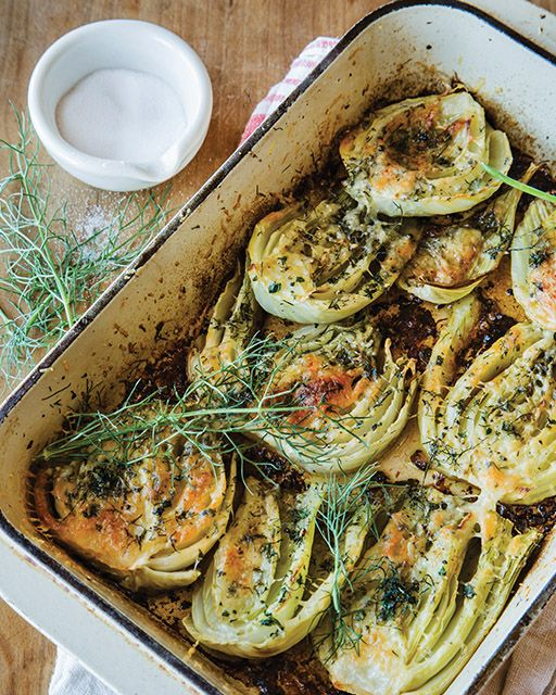 "My friend Bill Hovard's Tuscan Braised Fennel recipe: Bill says: ""I learned this recipe from my dear friend Isabella in the Tuscan hills outside Siena Italy. A classic Italian side dish."""