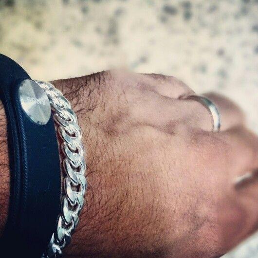 Sony smartband#silver brecelte#silver ring#z2 clicks