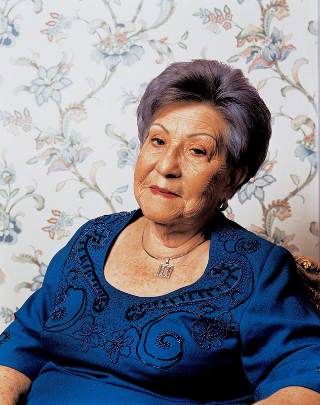 Hermilda Gaviria de Escobar, photographed in her home in Medellin at the age of 88 |