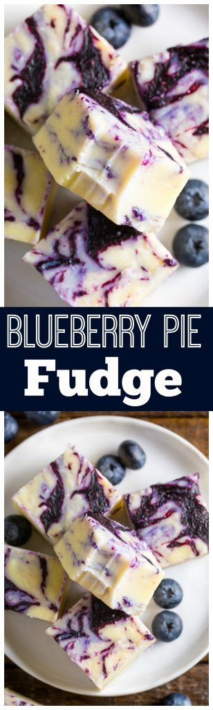 Blueberry Pie Fudge made with just 7 ingredients! SO GOOD!!!