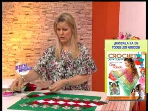 Carolina Rizzi  - Bienvenidas TV - Realiza un camino de mesa navideño en...