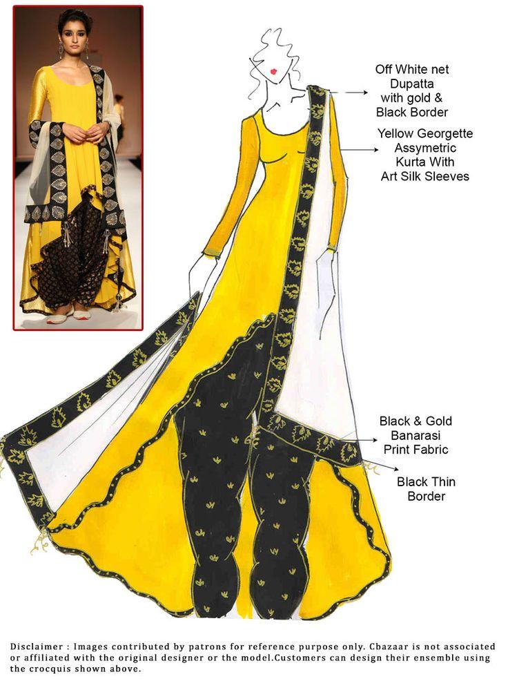 DIY Yellow Georgette Patiala Suit