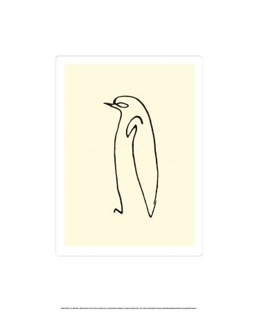 Seriously want this print!   Picasso - Le Pingouin, c. 1907