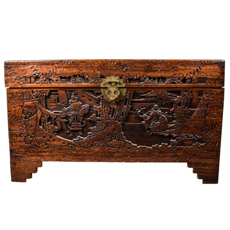 Mid 20th Century Chinese Carved Chest