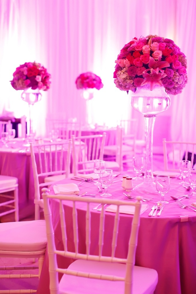 13 best an enchanted wedding images on pinterest glamping weddings high pink floral centrepieces brighten this bryant bryant dewey seasons hotel jakarta reception junglespirit Choice Image