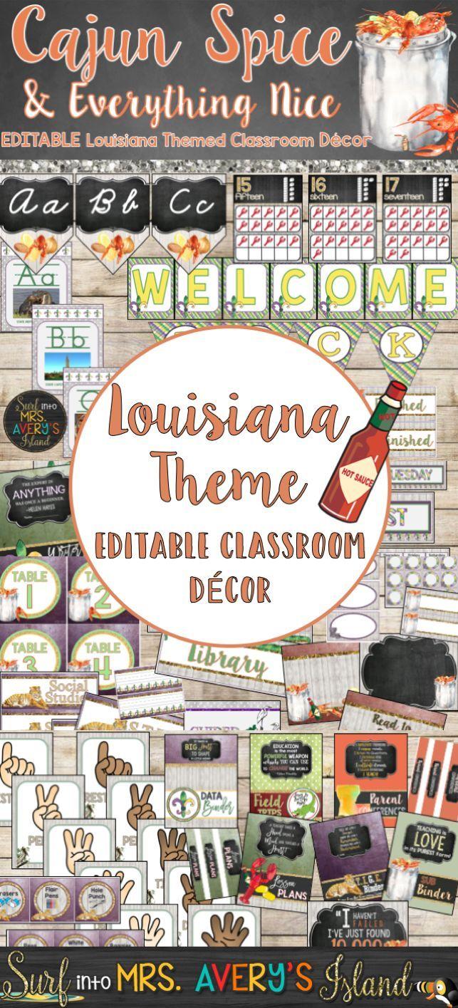 Louisiana Classroom Decor Bundle Editable 74